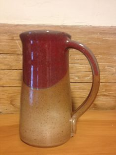Large pottery coffee mug in CopperRed and Earthtone glazes contemporary rustic…