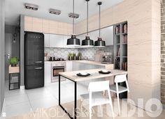 beton-drewno-cegła-kuchnia - zdjęcie od MIKOŁAJSKAstudio - Kuchnia - Styl Industrialny - MIKOŁAJSKAstudio