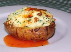 Baked Potatoes Stuffed With Ricotta and Herbs from Food.com:   Weight Watchers recipe, 2 1/2 points per serve.