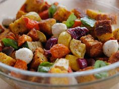 Roasted Vegetable Panzanella recipe from Ree Drummond via Food Network