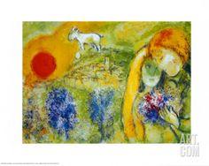 Art.fr - Reproduction artistiques 'Amoureux De Vence' par Marc Chagall