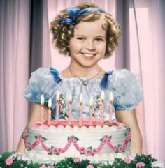 Shirley Temple, six years old.