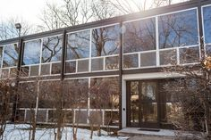 Mies van der Rohe-designed townhouses of Lafayette Park, Detroit. [Photography by Chris and Michelle Gerard]