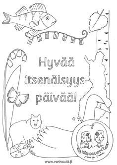 Fall Crafts, Crafts For Kids, Arts And Crafts, Diy Crafts, Finnish Independence Day, Finnish Language, Coloring Pages, Art Projects, Kindergarten