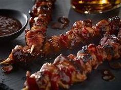 Bacon Bourbon Barbeque Chicken Kebabs