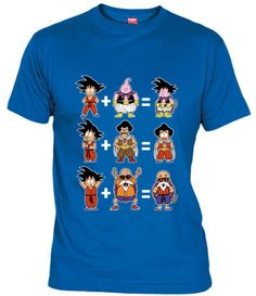 Camiseta con fusiones absurdas de Dragon Ball. Gokubuu, Mr.Songotan y Maestro Tortugoku.