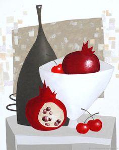 "Buy ""Pomegranate Nocturne"" oil painting / h … - Obst Pen And Watercolor, Watercolor Paintings, Pomegranate Art, Granada, Markova, Art Background, Map Art, Landscape Art, Painting Inspiration"