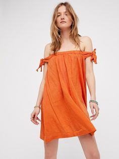 Just Right Off The Shoulder Mini Dress from Free People!