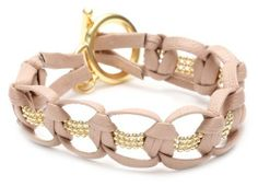 gorjana Valencia Nude Leather Bracelet gorjana. $110.00. Made in US