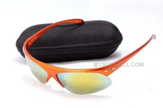 www.mysunwell.com... Only$25.00 CHEAP OAKLEY SPORT SUNGLASS 9097 ORANGE FRAME YELLOW LENS WHOLESALE FOR SALE Free Shipping!