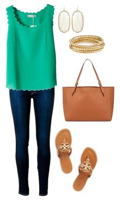 """""""Kendra + Tory"""" by amandamurray-13 ❤ liked on Polyvore featuring Kendra Scott and Tory Burch"""