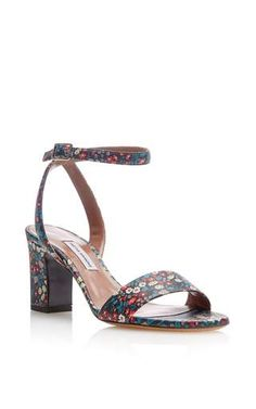 Floral goat leather leticia sandal by TABITHA SIMMONS for Preorder on Moda Operandi