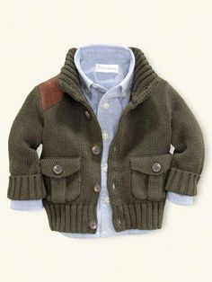 743097854430c6 A Riding Cardigan from Ralph Lauren for a Baby Boy!