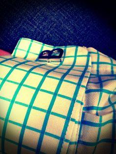 KONOV 2pcs Rhodium Plated Classic Square Mens Shirts Plaid Cufflinks Wedding Black Gray 2-Tone 1 Pair