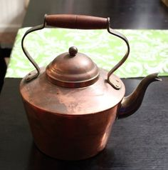 Vintage Tagus Copper Tea Kettle