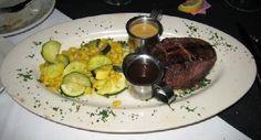 A ten-ounce filet served medium rare. (Courtesy of Bill Resnik)
