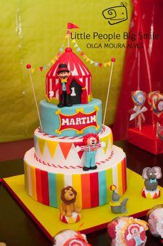 Circus cake, bolo circo