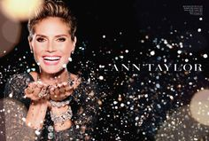 Love this photo of Heidi Klum in an ad campaign for Ann Taylor.