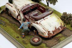 50 % OFF ! 1955 MERCEDES-BENZ 300S with FIGURE 1:18 DIORAMA | eBay