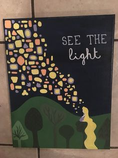"""See the Light"" Tangled themed canvas #disney #Tangled   By Elise Bender"