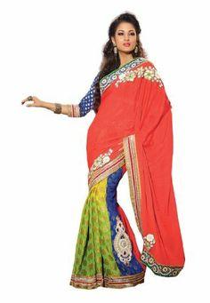 Indian Designer Wear Viscose Jacquard Orange Embroidered Saree Fabdeal, http://www.amazon.de/dp/B00J0V1E4G/ref=cm_sw_r_pi_dp_o46otb1V2N6V5