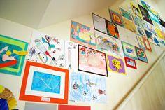 kokokoKIDS: Displaying Kids Art and Storage Ideas Artwork Display, Framed Artwork, Diy Painting, Painting Frames, Magnetic Paint, Kids Artwork, Diy Frame, Art For Kids, Kid Art