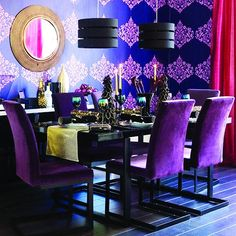 Super purple dining room!