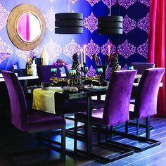 Super purple dining room!