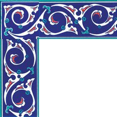 Ceramic Border with Rumi Pattern - Armada Çini Turkish Tiles, Turkish Art, Border Pattern, Pattern Art, China Patterns, Tile Patterns, Arabesque, Decoupage, Islamic Tiles