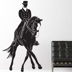 "Style and Apply Riding Discipline Wall Decal Size: 39"" H x 23"" W, Color: Beige"