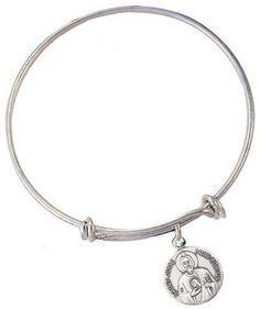 46478cbc68c Jeweled Cross St Jude Patron Saint Charm Bangle Bracelet – Heavenly Divine  Gifts St Benedict Bracelet