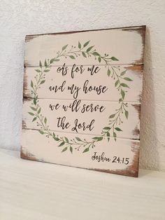 As For Me And My House We Will Serve The Lord Sign wood sign Bible Verse Sign Scripture Sign Farmhouse decor Christian Sign DIY Wood Signs bible Christian Decor Farmhouse House Lord Scripture Serve Sign Verse Wood Diy Wood Signs, Painted Wood Signs, Pallet Signs, Stencils For Wood Signs, Distressed Wood Signs, Rustic Signs, Christian Signs, Christian Decor, Bible Verse Signs