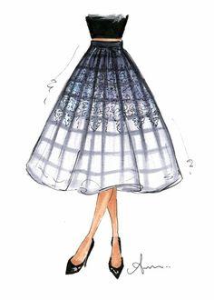 ladylike. Tibi midi skirt