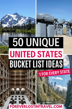50 United States Bucket List Ideas By State - Forever Lost In Travel Usa Travel Guide, Travel Usa, Travel Tips, Travel Articles, Best Places To Travel, Cool Places To Visit, United States Travel, Travel Inspiration, Travel Ideas