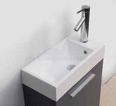 """ALEXIUS - 20"""" Gray Vanity Sink"""