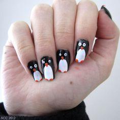 Penguin Nails #penguin #animallovers #animals