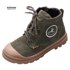 b49886a2 Koovan Kids Shoes 2017 Spring New Children Leather Martin Boots Girls Boys  Baby Boots Lace Anti Kick Students Shoes Sports