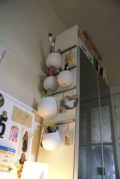 Ikea asker pots in an unused space