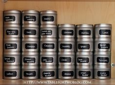 DIY Spice Organization~Finally something that I think will work for me and my spice cabinet.  Going to order square tins though....
