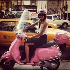pink scooter....will definitely be making this my next major purchase.