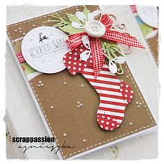 scrappassion: Stocking card with lots of layers