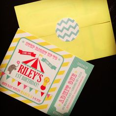 carnival birthday party ideas | Riley's circus birthday party invites | party ideas