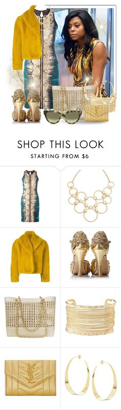 """""""Cookie Lyons"""" by angelc ❤ liked on Polyvore featuring Roberto Cavalli, Vera Bradley, Jean-Paul Gaultier, Chanel, Charlotte Russe, Yves Saint Laurent, Lana, CÉLINE, empire and tarajiphenson"""