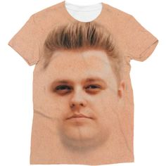 Nick Crompton Official Sublimation T-Shirt (138845 PYG) ❤ liked on Polyvore featuring tops, t-shirts, red shirt, shirt top, red t shirt, tee-shirt and red tee