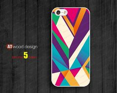 geometric colorized Phone case iphone 5 cases for by Atwoodting, $6.99