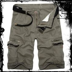 Mens Loose Fit Cargo Shorts