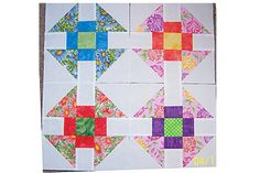 Churn Dash is an easy quilt block pattern. The pattern includes instructions for single blocks and for eight identical blocks.
