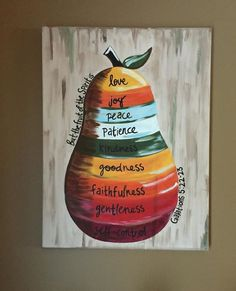 Fruit of the Spirit Canvas Painting by CoffeeFueledCreation