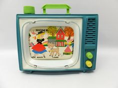 Items similar to Vintage Ohio Art musical wind-up television - School Days - music and movement on Etsy Mama Mary, Cheap Toys, Music And Movement, School Days, Warm Colors, Vintage Toys, Lamb, Ohio, Nostalgia