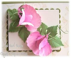 Sweetpea.   Uses Sweet Pea punch by Punch Bunch.   Jak Heath.com: Floral Punch Craft